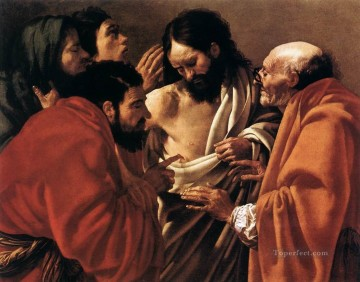 Red Art - The Incredulity Of Saint Thomas Dutch painter Hendrick ter Brugghen