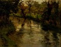 Woodland Scene With A River Norwegian Frits Thaulow