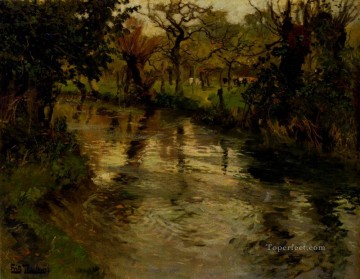 Woodland Scene With A River Norwegian Frits Thaulow Oil Paintings
