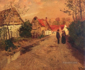 ARQUESLABATAILLE NORMANDIE Norwegian Frits Thaulow Oil Paintings