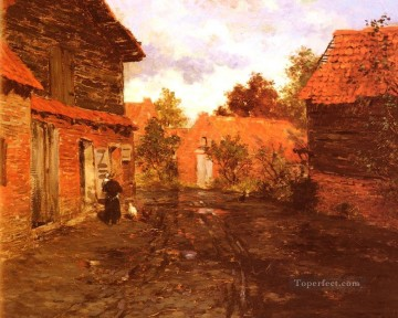 After The Rain Norwegian Frits Thaulow Oil Paintings