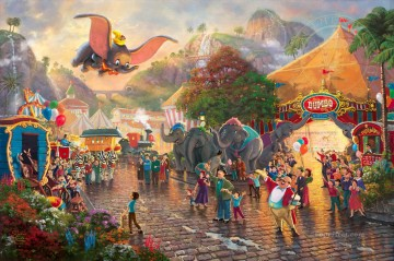 Disney Dumbo Thomas Kinkade Oil Paintings