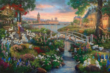 Movie 101 Dalmatians Thomas Kinkade Oil Paintings