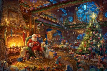 Santa Workshop Thomas Kinkade Oil Paintings
