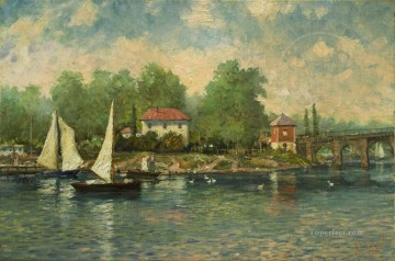 Thomas Kinkade Painting - A Summer Morning Robert Girrard Thomas Kinkade