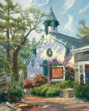 Church of the Wayfarer Thomas Kinkade Oil Paintings