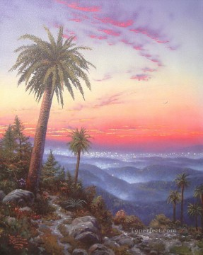 Kinkade Canvas - Desert Sunset Thomas Kinkade