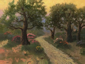 Kinkade Canvas - Garden of Gethsemane Thomas Kinkade