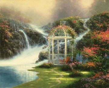 Thomas Kinkade Painting - Hidden Arbor Thomas Kinkade