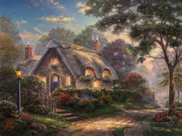 Lovelight Cottage Thomas Kinkade Oil Paintings