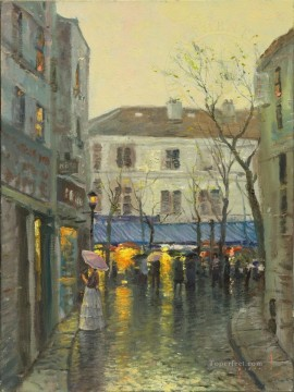 Montmartre Thomas Kinkade Oil Paintings
