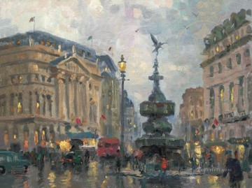 Thomas Kinkade Painting - Piccadilly Circus London Thomas Kinkade