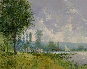 Thomas Kinkade Painting - Sailing Day Thomas Kinkade