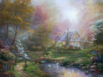 Thomas Kinkade Painting - A Mothers Perfect Day Thomas Kinkade