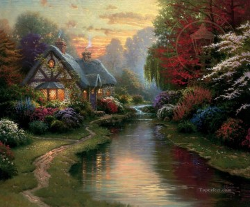 A Quiet Evening Thomas Kinkade Oil Paintings
