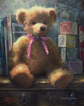 thomas kinkade Painting - A Trusted Friend Rose Bud Thomas Kinkade