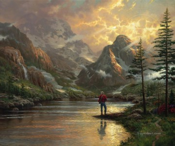 Thomas Kinkade Painting - Almost Heaven Thomas Kinkade