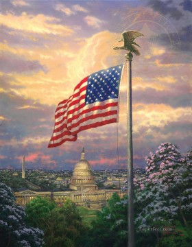 America Pride Thomas Kinkade Oil Paintings