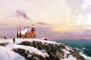 Thomas Kinkade Painting - Block Island Thomas Kinkade