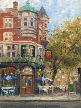 Bloomsbury Cafe Thomas Kinkade Oil Paintings