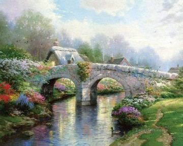 Blossom Bridge Thomas Kinkade Oil Paintings