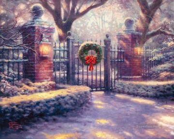 Christmas Gate Thomas Kinkade Oil Paintings