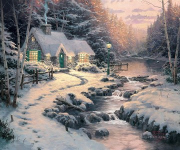 Evening Glow Thomas Kinkade Oil Paintings