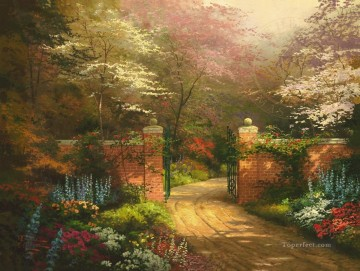 Thomas Kinkade Painting - Gate of New Beginnings Thomas Kinkade