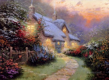 Thomas Kinkade Painting - Glory Of Evening Thomas Kinkade