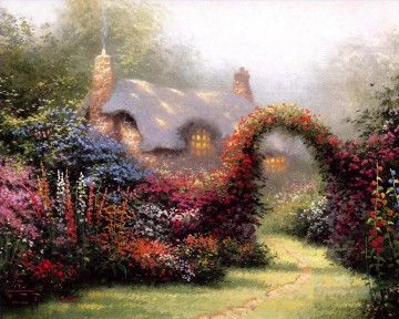 Kinkade Canvas - Glory Of Morning Thomas Kinkade