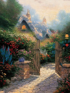 Hidden Cottage II Thomas Kinkade Oil Paintings