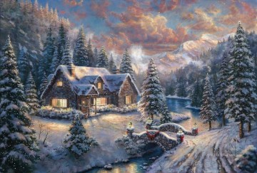 Thomas Kinkade Painting - High Country Christmas Thomas Kinkade