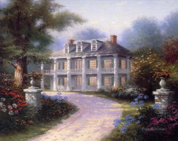 Thomas Kinkade Painting - Homestead House Thomas Kinkade