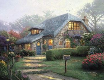 Thomas Kinkade Painting - Lilac Cottage Thomas Kinkade