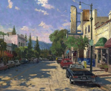 Thomas Kinkade Painting - Los Gatos Thomas Kinkade