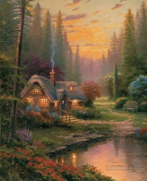 Thomas Kinkade Painting - Meadowood Cottage Thomas Kinkade