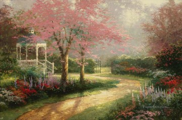 Morning Dogwood Thomas Kinkade Oil Paintings
