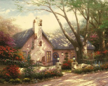 Morning Glory Cottage Thomas Kinkade Oil Paintings
