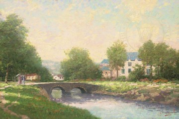 Thomas Kinkade Painting - Morning Stroll Robert Girrard Thomas Kinkade