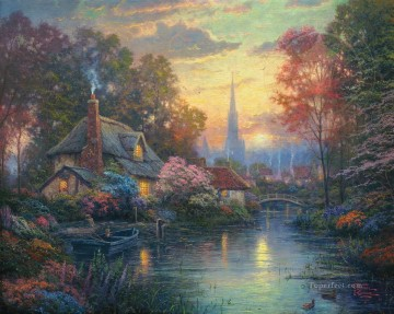 Thomas Kinkade Painting - Nanette Cottage Thomas Kinkade