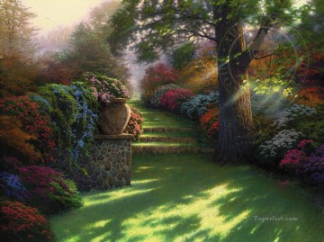 Thomas Kinkade Painting - Pathway to Paradise Thomas Kinkade