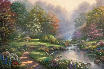 Thomas Kinkade Painting - Reflections of Faith Thomas Kinkade