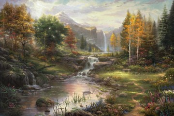 thomas kinkade Painting - Reflections of Family Thomas Kinkade