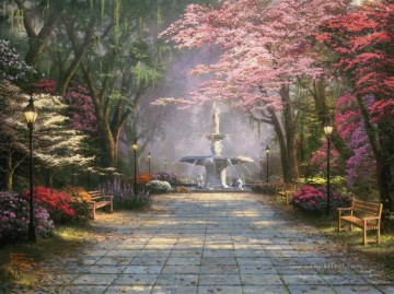 Kinkade Canvas - Savannah Romance Thomas Kinkade