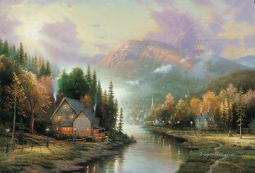 Simpler Times I Thomas Kinkade Oil Paintings