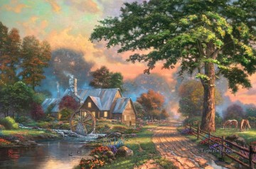 Simpler Times II Thomas Kinkade Oil Paintings