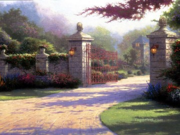 Kinkade Canvas - Summer Gate Thomas Kinkade