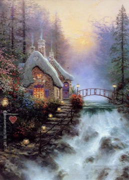 Kinkade Canvas - Sweetheart Cottage II Thomas Kinkade