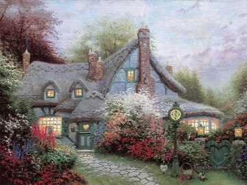 Heart Painting - Sweetheart Cottage Thomas Kinkade