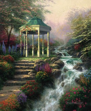 Kinkade Canvas - Sweetheart Gazebo Thomas Kinkade